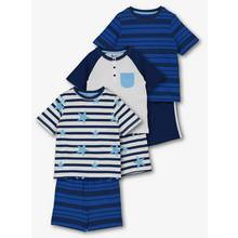 Online Exclusive Blue Star & Stripe Short Pyjamas 3 Pack (1.