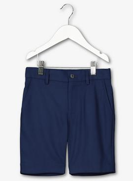 Navy Formal Suit Shorts