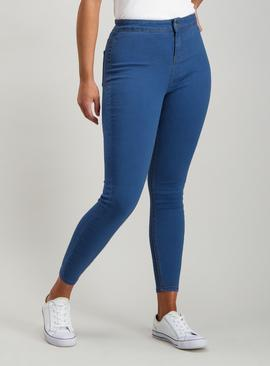 Online Exclusive Mid Denim Blue High Waisted Skinny Jeans