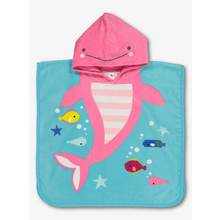 Pink & Blue Fish Hooded Poncho Towel - One Size