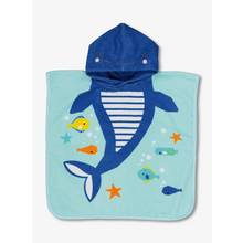 Blue Fish Hooded Poncho Towel - One Size