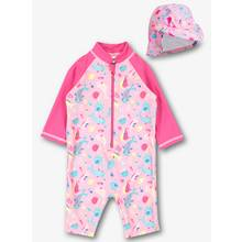 Pink Sunsuit 2 Piece Set (0 - 3 Years)