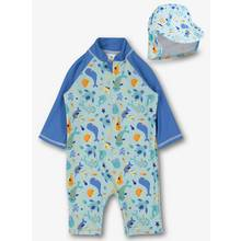 Blue Sea Creatures Print 2 Piece Set (Onesize)