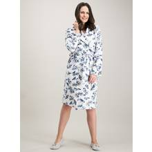 Cream Butterfly Print Robe