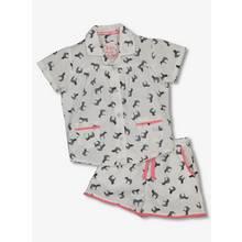 White Zebra Pom-Pom Pyjama Set