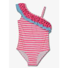 Pink Watermelon One Shoulder Swimsuit