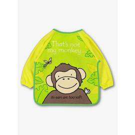 Green Thats Not My Monkey Long Sleeve Bib - One Size