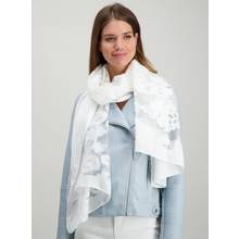 White Burnout Scarf - One Size
