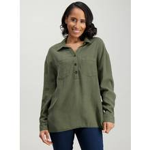 Khaki Green Tencel Shirt