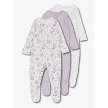 Multicoloured Floral Sleepsuit 3 Pack