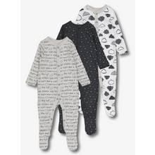 Monochrome Sleepsuit 3 Pack