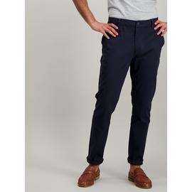 Navy Blue Skinny Fit Chinos With Stretch
