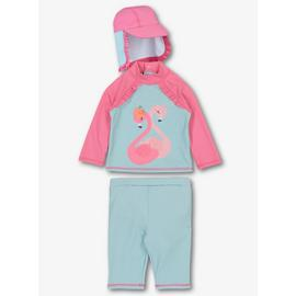 Online Exclusive Pink Flamingo Sunsuit Set