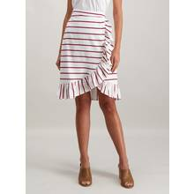 Multicoloured Horizontal Stripe Ruffle Skirt