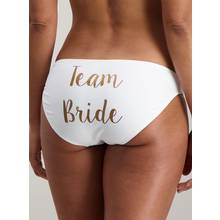 Black Team Bride Bikini Briefs