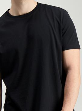 Black Relaxed Fit Crew Neck T-Shirt