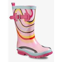 Graduate Fashion Week Pink Swirl Print Wellies (10 Infant-4)