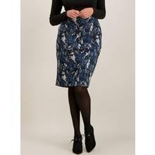 Navy Floral Jacquard Skirt