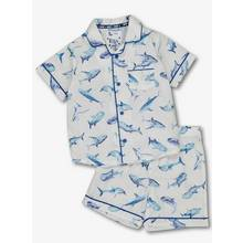 White Shark Print Shortie Pyjamas