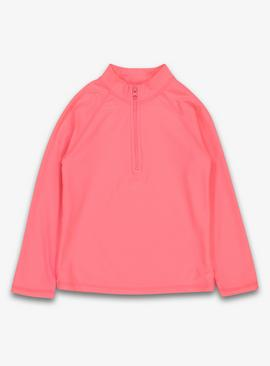 Neon Pink Long Sleeve Rash Vest