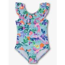 Multicoloured Tropical Bird Swimming Costume