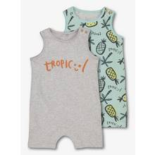 Multicoloured Jersey Rompers 2 Pack (0 - 24 Months)