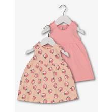 Multicoloured Peach Jersey Dress 2 Pack (0 - 24 Months)
