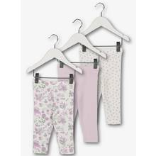 Lilac & White Classic Leggings 3 Pack (0 - 24 Months)