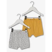 Mustard & Cream Ditsy Print Jersey Shorts 2 Pack