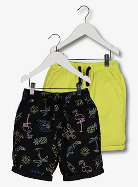 Multicoloured Neon Short 2 Pack