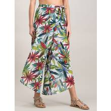 Multicoloured Palm Print Beach Trouser
