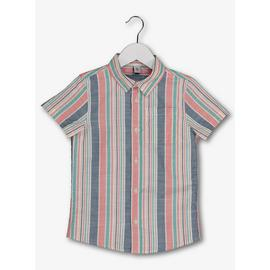 Multicoloured Stripe Short Sleeve Shirt