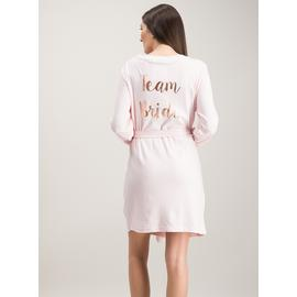 Pink Team Bride Dressing Gown