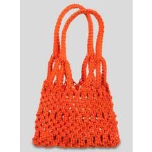 Orange Macramé Hobo Bag - One Size