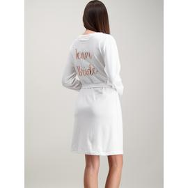 White Team Bride Dressing Gown