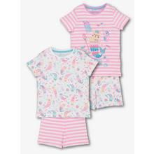 Pink Princess Purrmaid Pyjamas 2 Pack
