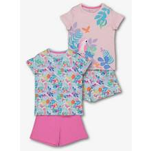 Multicoloured Tropical Pyjama 2 Pack