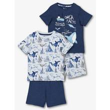 Blue Whale Print Pyjamas 2 Pack (18 months - 12 years)