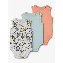 Pastel Tropical Sleeveless Bodysuits 3 Pack (0 - 24 months)