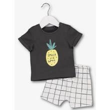 Grey & White Pineapple Check 2 Piece Set (0 - 24 Months)