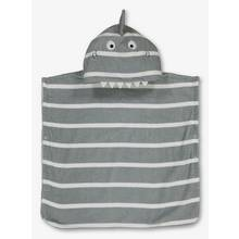 Grey Shark Hooded Poncho Towel - One Size