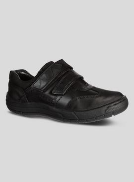Online Exclusive Black Leather Wide Fit Shoes