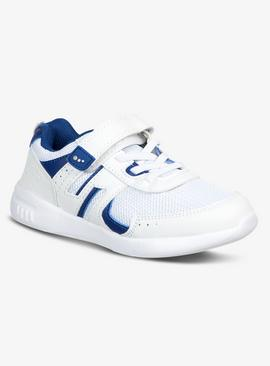 White & Blue Basic Trainers