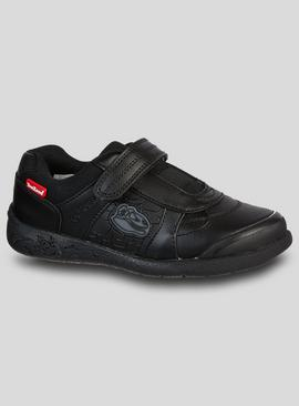 ToeZone Black Dinosaur School Shoe