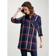 Navy Check Longline Shirt