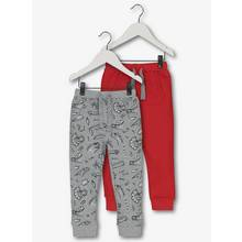 Grey & Red Dinosaur Joggers 2 Pack