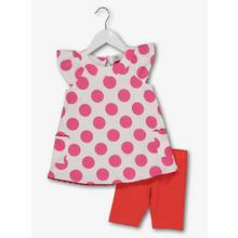 Pink Spotted Jersey 2 Piece Set (9 Months - 6 Years)