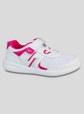 White & Pink Basic Trainers