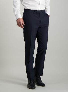 Online Exclusive Navy Check Slim Fit Suit Trousers