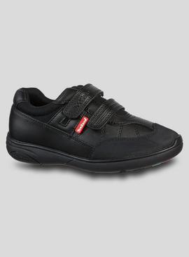 TOEZONE Black Smart Trainer School Shoes